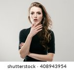 portrait of beautiful young... | Shutterstock . vector #408943954
