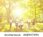 green business team concept | Shutterstock . vector #408947494