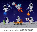 Astronauts Characters Set In...