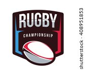 rugby logo  american logo sport | Shutterstock .eps vector #408951853