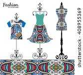 vector fashion collection with... | Shutterstock .eps vector #408955369