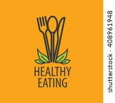 vector logo healthy eating | Shutterstock .eps vector #408961948