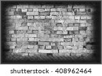 brick gray wall background and... | Shutterstock . vector #408962464
