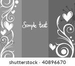 heart background | Shutterstock .eps vector #40896670