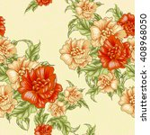vintage wallpaper seamless... | Shutterstock . vector #408968050