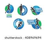 marathon vector logo. running... | Shutterstock .eps vector #408969694