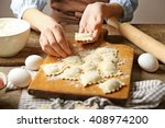 ravioli cooking | Shutterstock . vector #408974200