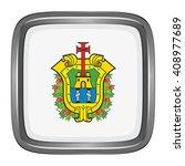 3d button flag of veracruz... | Shutterstock .eps vector #408977689