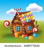 illustration of sweet house of... | Shutterstock .eps vector #408977830