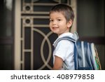 cute 3 year old mixed race...   Shutterstock . vector #408979858