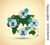 communication  vector design ... | Shutterstock .eps vector #408979996