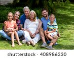 portrait of multi generation... | Shutterstock . vector #408986230