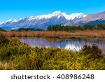 glenorchy lagoon landscape with ... | Shutterstock . vector #408986248