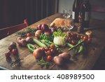 Different Fresh Farm Vegetable...