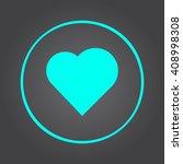 heart icon vector  solid... | Shutterstock .eps vector #408998308