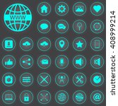 web vector icons set  internet...