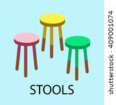 bar stools  chair colorful | Shutterstock .eps vector #409001074