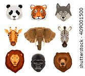 images set of wild animals... | Shutterstock .eps vector #409001500