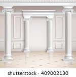 realistic classic hall interior ... | Shutterstock .eps vector #409002130