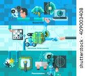 artificial intelligence... | Shutterstock .eps vector #409003408