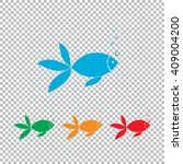 fish with bubbles icon. color... | Shutterstock . vector #409004200