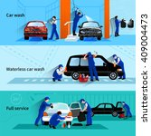 full service car wash with... | Shutterstock .eps vector #409004473