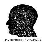 abstract molecule based human... | Shutterstock .eps vector #409024273