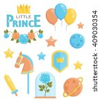 a set of cute little prince...   Shutterstock .eps vector #409030354