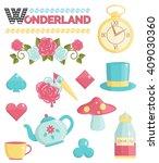 cute wonderland magic dream...   Shutterstock .eps vector #409030360