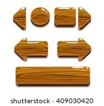 vector cartoon wood buttons for ... | Shutterstock .eps vector #409030420