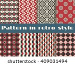 set of ethnic seamless patterns.... | Shutterstock .eps vector #409031494