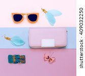 ladies fashion accessories.... | Shutterstock . vector #409032250
