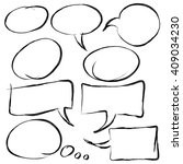 collection of speech bubbles ... | Shutterstock .eps vector #409034230