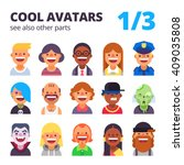 set of cool avatars. different... | Shutterstock .eps vector #409035808