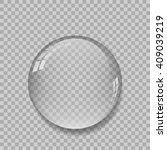 crystal ball with reflections... | Shutterstock .eps vector #409039219