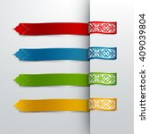 Infograpic Ribbon Banner With...