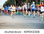 Runners In Marathon Abstract ...