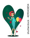 cute colorful vector cartoon... | Shutterstock .eps vector #409043854