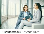 hr manager holding job... | Shutterstock . vector #409047874