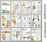 big infographics in flat style. ... | Shutterstock .eps vector #409052224