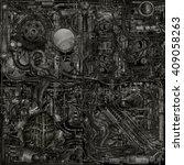 cyborg grunge parts | Shutterstock . vector #409058263
