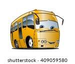 cartoon school bus isolated on...