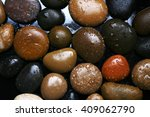 Wet Colored Stones Background ...
