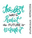 the best way to predict the... | Shutterstock .eps vector #409063306