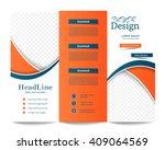 tri fold brochure template...   Shutterstock .eps vector #409064569