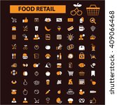 food retail icons  | Shutterstock .eps vector #409066468