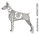 Doberman Pinscher Zentangle...