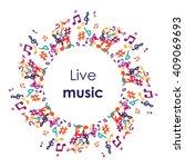 vector illustration   music... | Shutterstock .eps vector #409069693