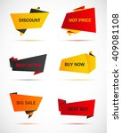vector stickers  price tag ... | Shutterstock .eps vector #409081108