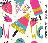 summer background pattern in... | Shutterstock .eps vector #409089268